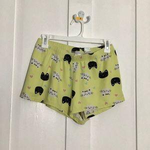 Women's Yellow Cat Pyjama Shorts- Weekend Edition